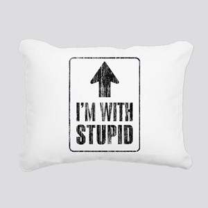 Vintage I'm With Stupid [u] Rectangular Canvas Pil